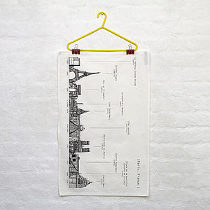 Paris Skyline Tea Towel