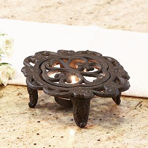 Antique Style Cast Iron Plate Warmer - dining room