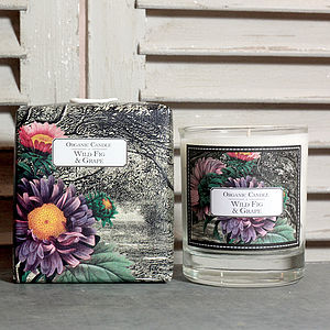 Organic Wild Fig And Grape Candle - home
