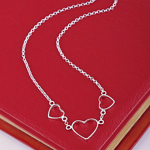Silver Hearts Necklace - necklaces & pendants