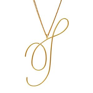 Large 9ct Solid Gold Initial Necklace