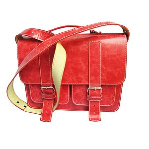 Red Leather Satchel - bags & purses