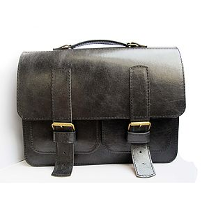 Leather Messenger Bag - shoulder bags
