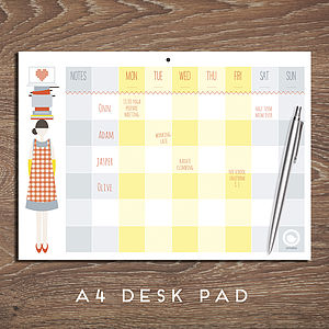 The Busy Woman's Weekly Planner - art & pictures