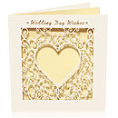 Laser Cut Card Delicate Wedding Day Wishes