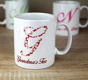 Personalised Initial Pattern Mug - winter sale