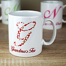 Personalised Initial Pattern Mug