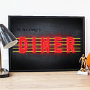 Personalised Neon 'American Diner' Poster