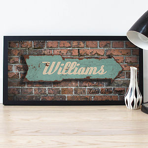 Personalised Rusty Arrow 'Family' Poster