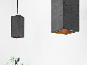 Concrete Pendant Light Handcrafted Lamp B2 - office & study