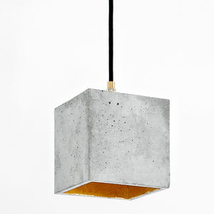 Concrete Pendant Light - office & study