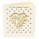 Laser Cut Card Happy Couple Wedding
