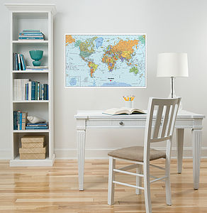 Map Of The World Removable Wall Sticker - wall stickers