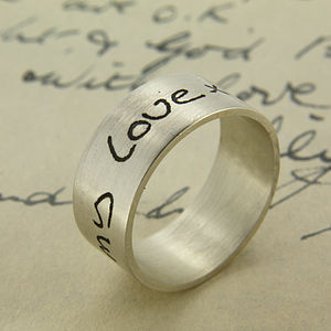 Your Own Handwriting Personalised Ring - rings