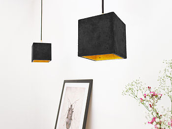 Concrete Pendant Light Handcrafted B1dark