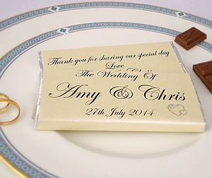Personalised Heart Wedding Chocolates - table decorations