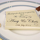Thumb personalised wedding chocolates