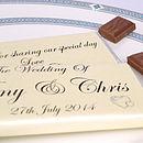 Personalised Heart Wedding Chocolates