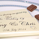 Personalised Heart Wedding Chocolates