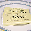 Personalised Place Setting Favour