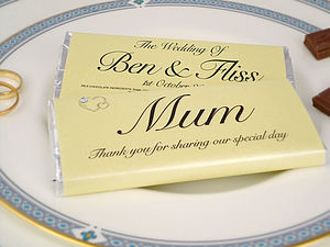 Personalised Place Setting Favour - chocolates