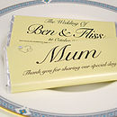 Personalised Chocolate Wedding Favour Placename