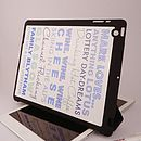 Personalised Shell iPad Case 'Likes'