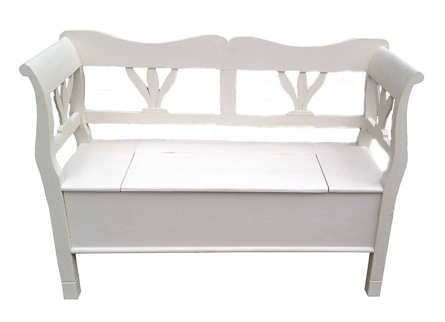 wooden bench with storage by bryonie porter. Black Bedroom Furniture Sets. Home Design Ideas