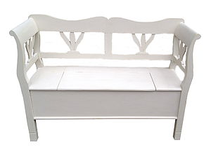 Wooden Bench With Storage - garden furniture