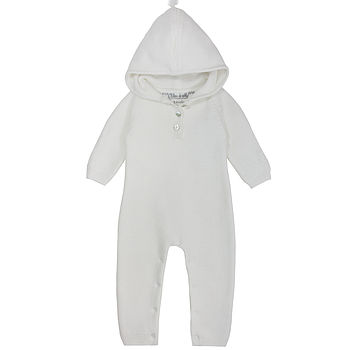 French Design White Cashmere Baby Romper