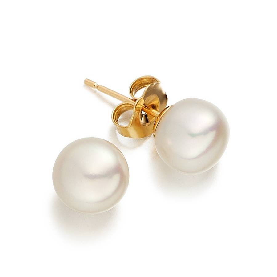 gold sapphire stud pearl earrings halo uk white venus silver and