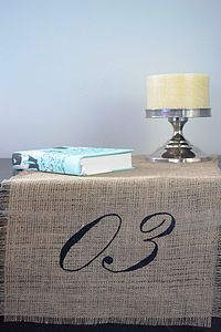 Hessian Table Number Table Runner