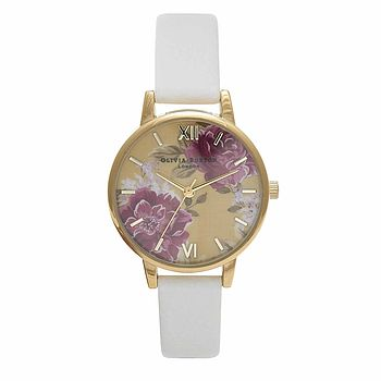 Flower Show Watch In White