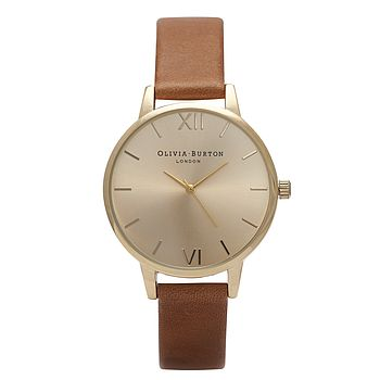Gold Midi Dial Watch