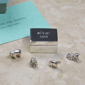Christening Keepsake Silver Zoo - christening gifts