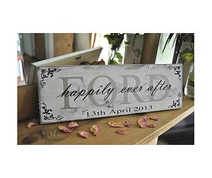 Wedding Anniversary Keepsake Personalised - outdoor decorations