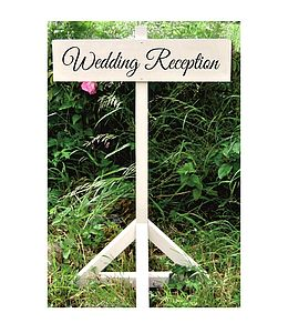 Personalised Free Standing Wedding Signpost Five Signs