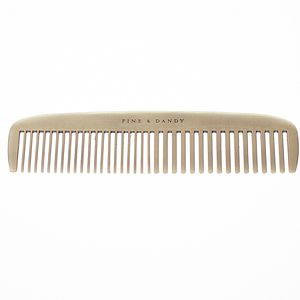Fine And Dandy Gentlemens Brass Comb - hair accessories