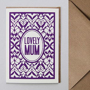 'Lovely Mum' Greetings Card - seasonal cards
