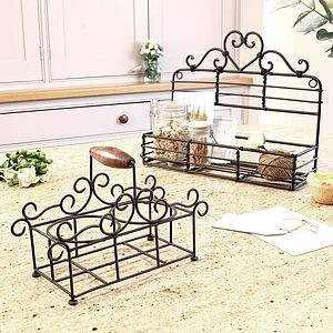 Heart Shaped Iron Kitchen Storage - storage & organisers