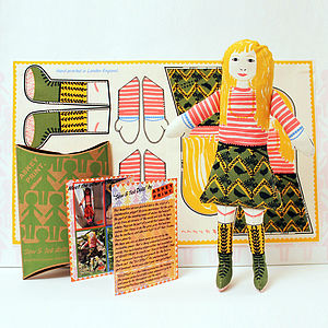 Anna Hand Screen Printed Doll Kit - leisure