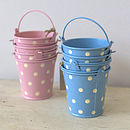 Set Of Three Mini Blue Buckets