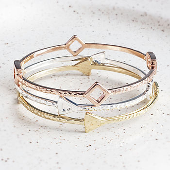 Elodie Love Arrow Triple Bracelet