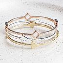 Elodie Love Arrow Triple Bracelet