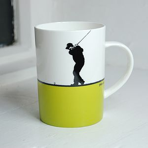 Golf Bone China Mug - gifts for golfers