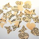 Phrase And Fable Vintage Heart Table Confetti