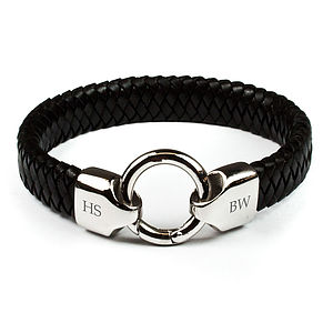 Personalised Men's His And Hers Bracelet - bracelets & bangles