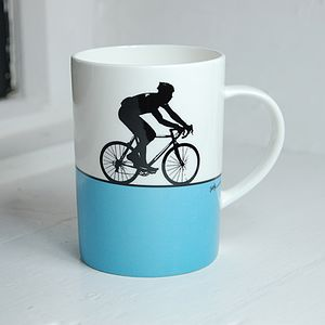 Cycling Bone China Mug - kitchen