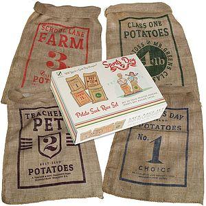Sports Day Potato Sack Race Set