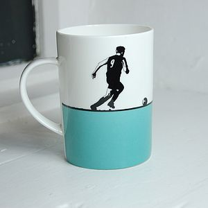 Football Bone China Mug
